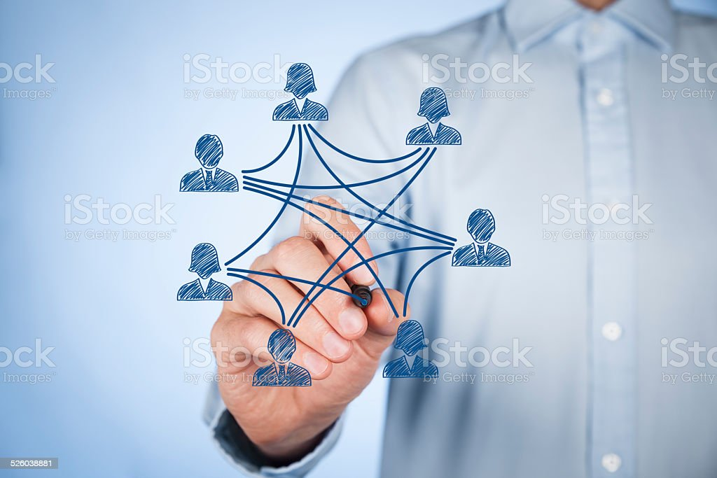Social media and connections stock photo