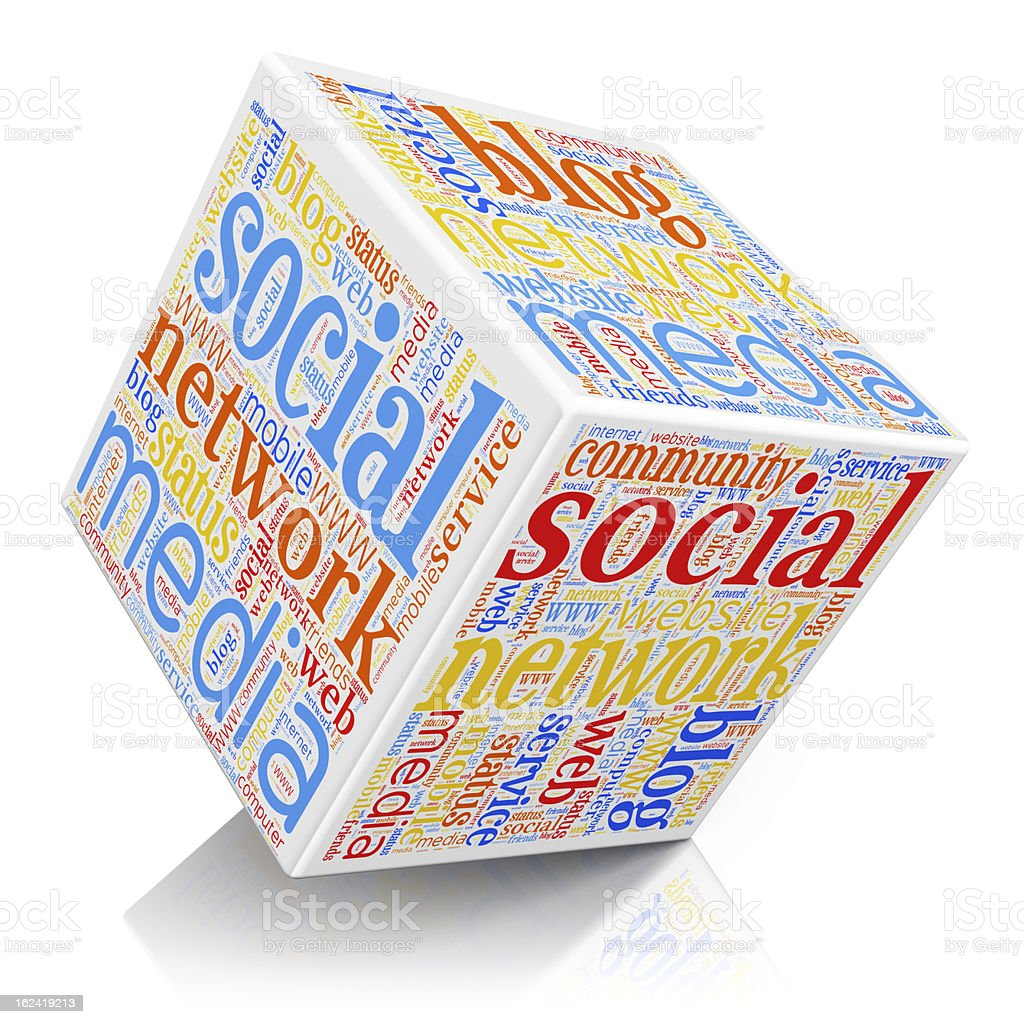 Social media and networking concept royalty-free stock photo
