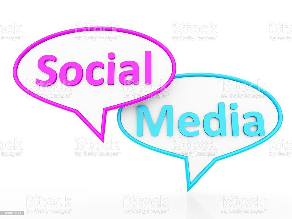 Social Media and Speech Bubbles royalty-free stock photo