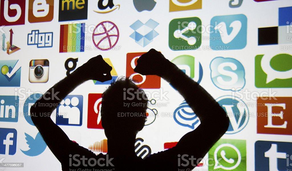 Social media and technology stock photo