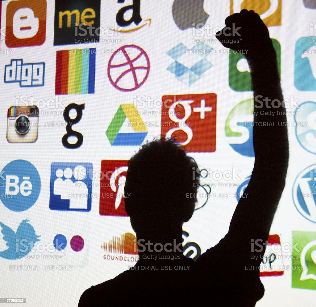 Social media and technology royalty-free stock photo