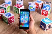 Social media app on iPhone