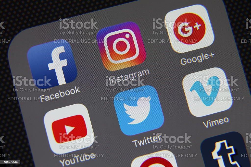 Social media application stock photo