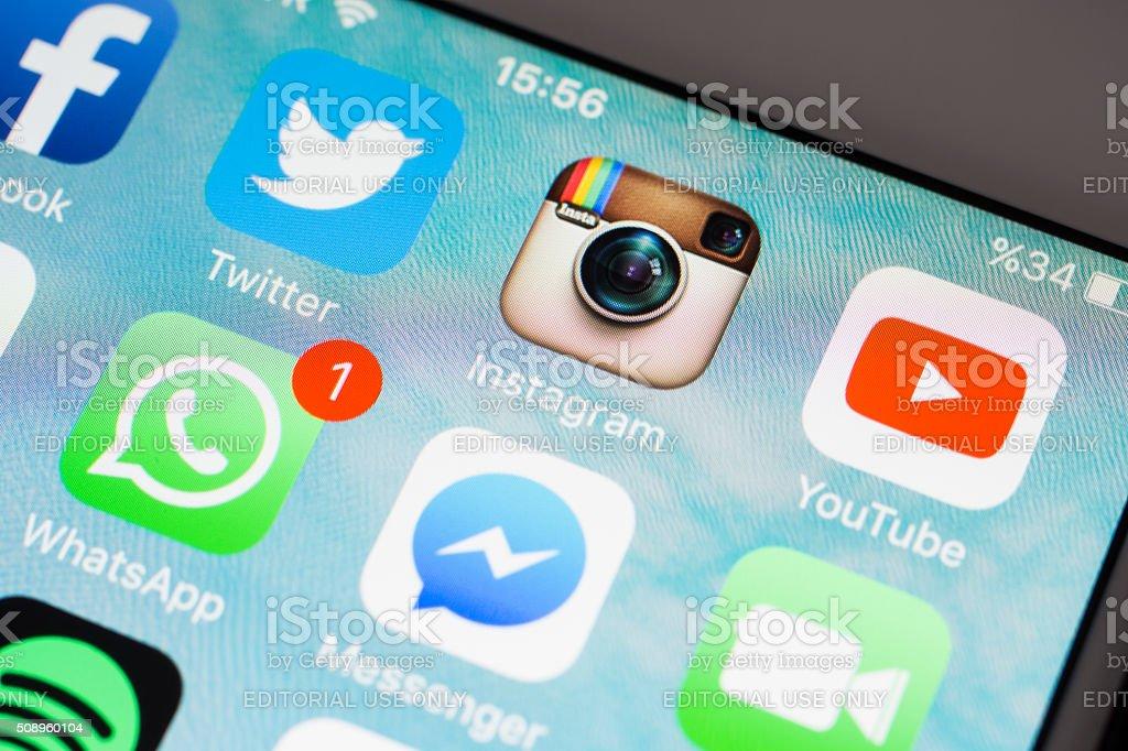 Social Media Applications Icons stock photo