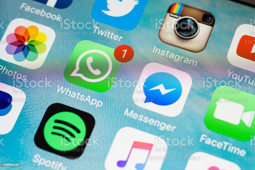 Social Media Applications Icons stock photo