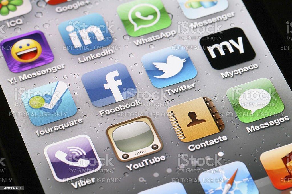 Social Media Applications royalty-free stock photo
