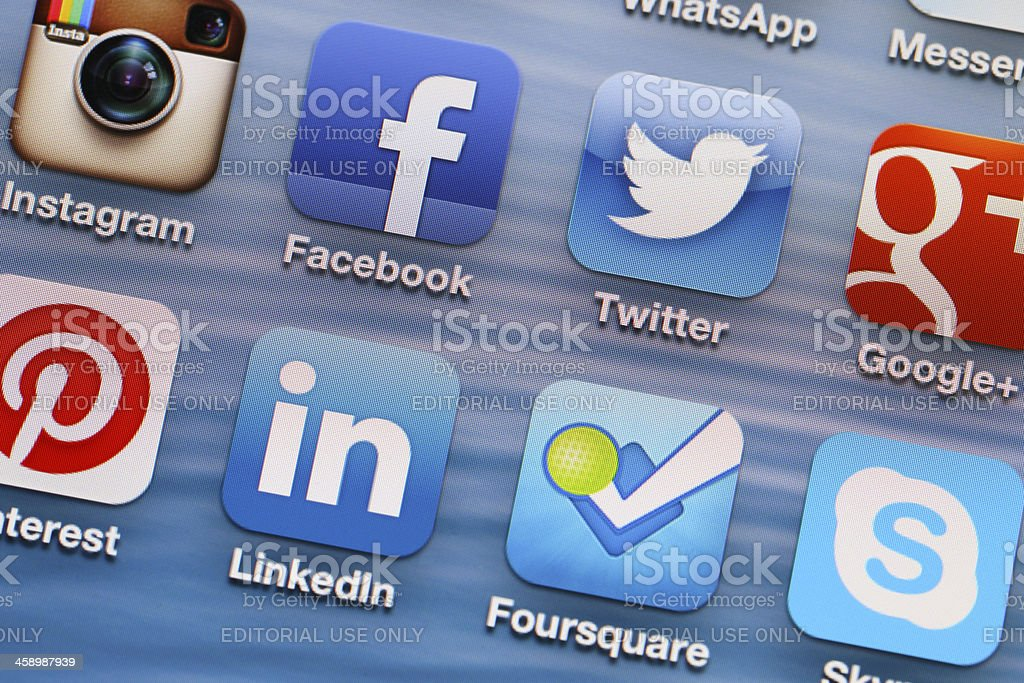 Social Media Applications royalty-free stock photo