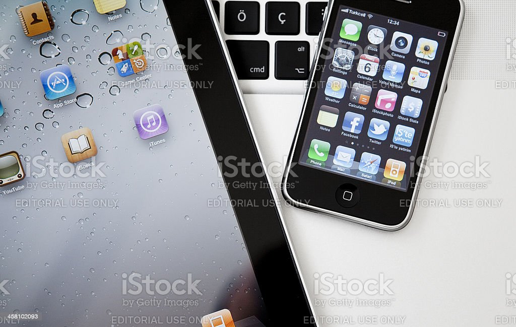 Social Media Apps on Apple iPhone and iPad royalty-free stock photo