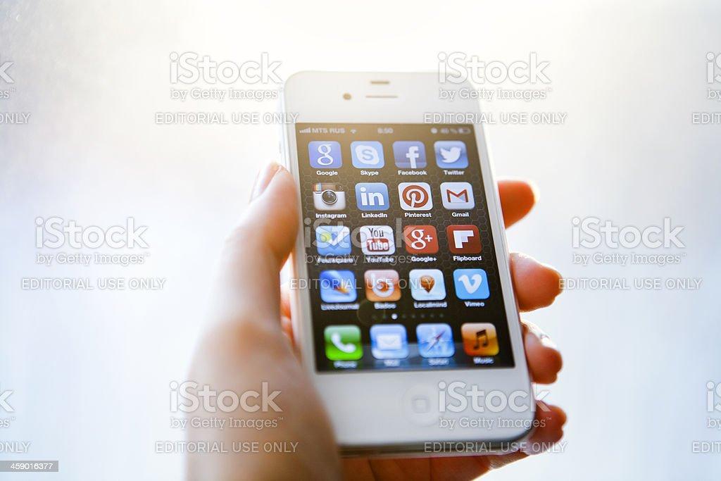 Social Media Apps royalty-free stock photo