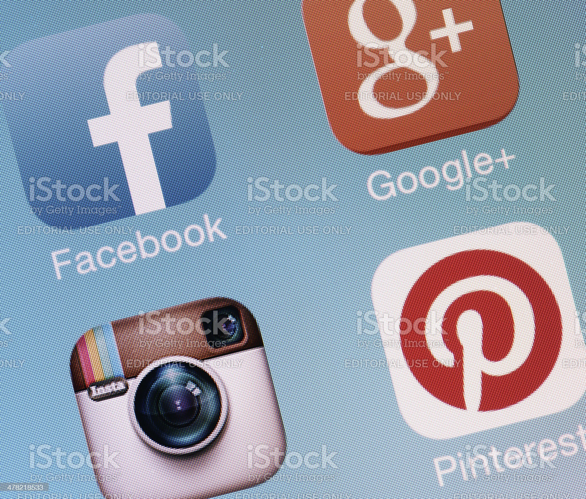 Social Media Apps royalty-free stock photo