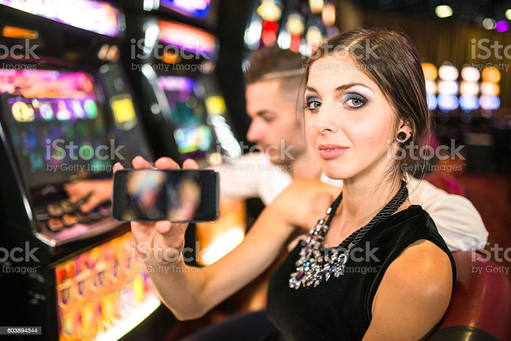 Social media at Casino stock photo