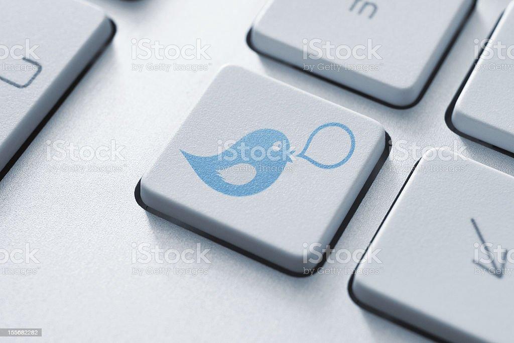 Social media button concept stock photo