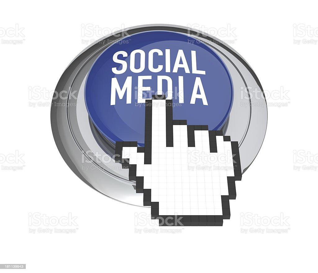 Social Media Button royalty-free stock photo