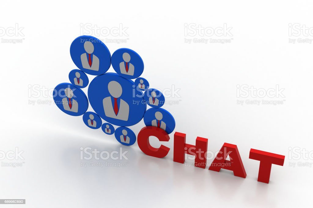 Social media chat concept stock photo