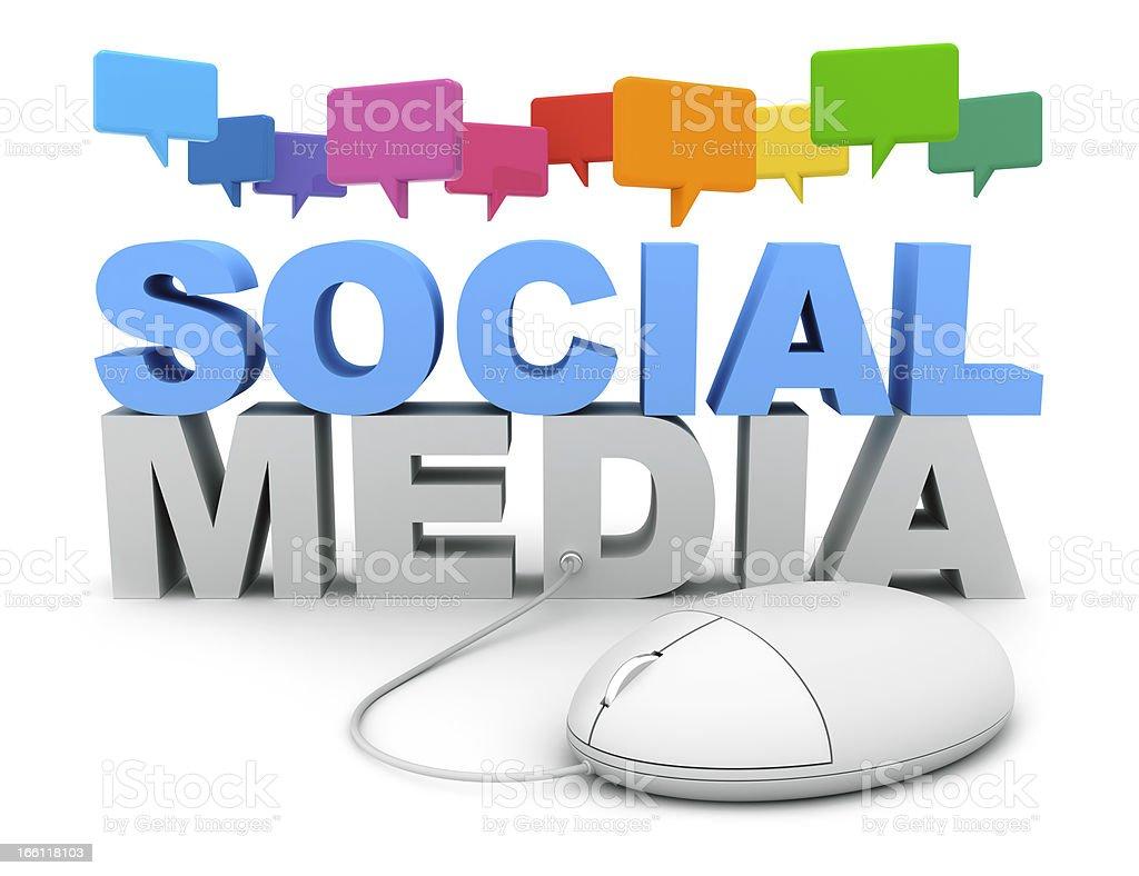 Social Media Chat royalty-free stock photo