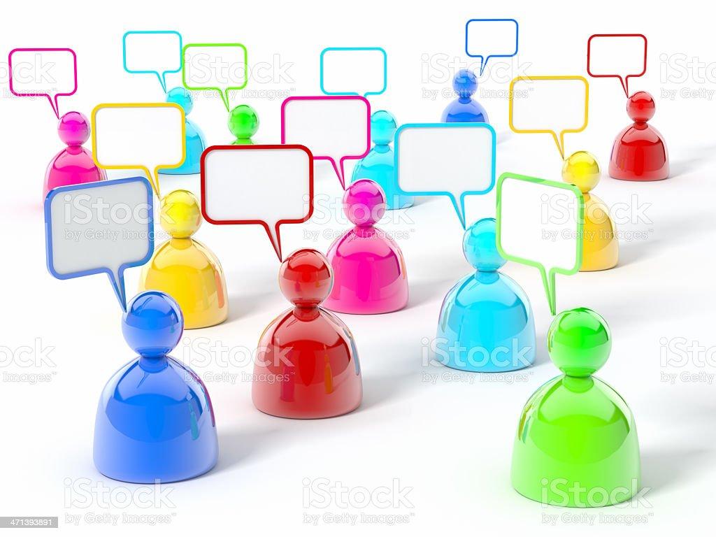 Social Media Chat Talking royalty-free stock photo
