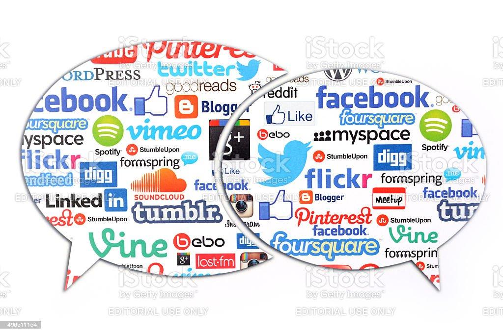 Social Media comments stock photo