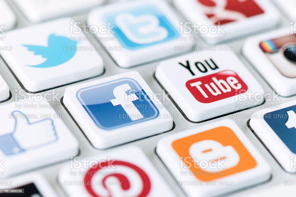 Social media communication royalty-free stock photo