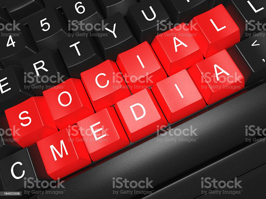Social media concept Computer Keyboard royalty-free stock photo