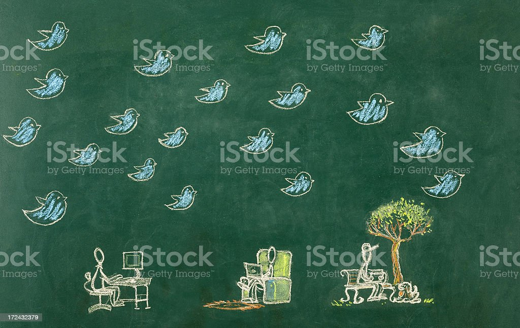 Social Media Concept Drawing royalty-free stock photo
