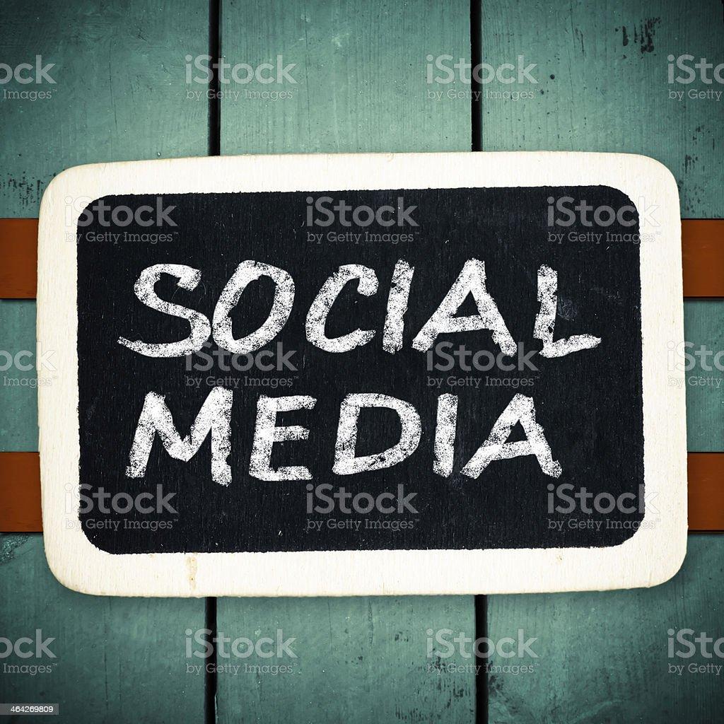 Social media concept stock photo
