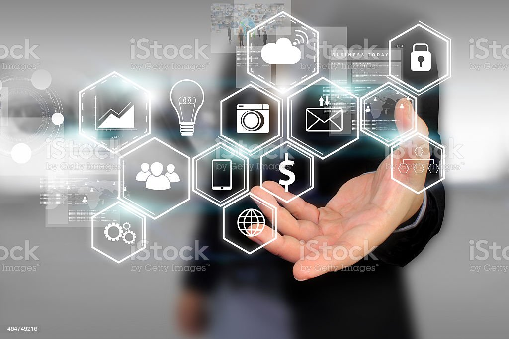 Social media concept. stock photo