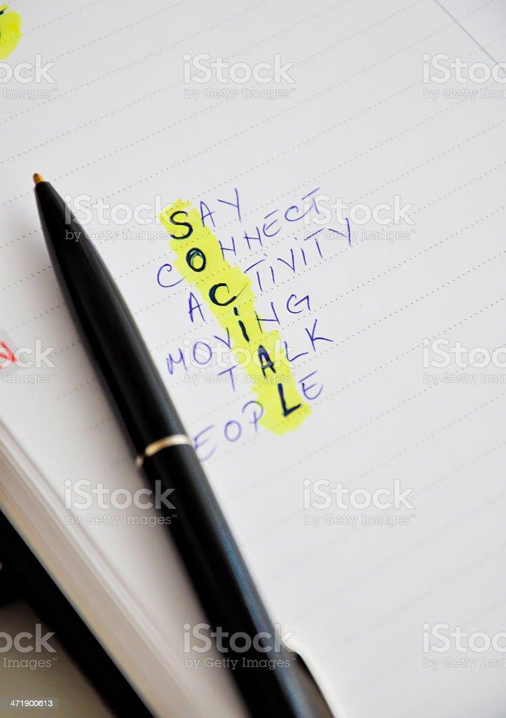 social media crosswords royalty-free stock photo
