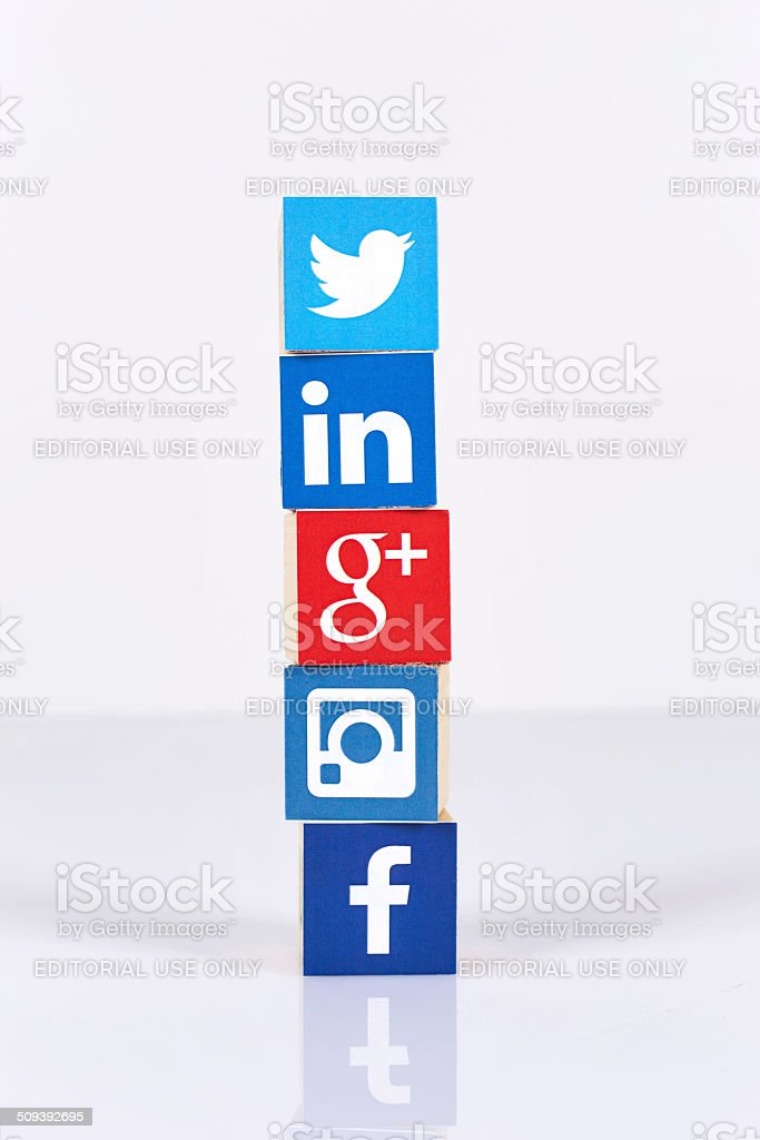Social Media Cubes stock photo