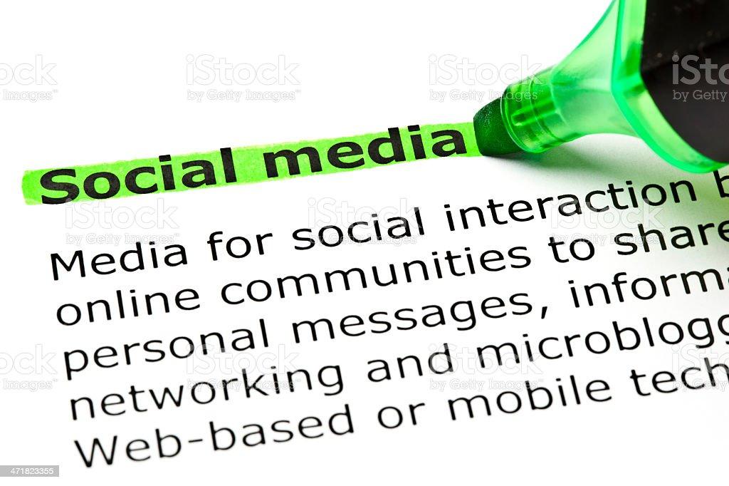Social media Definition stock photo