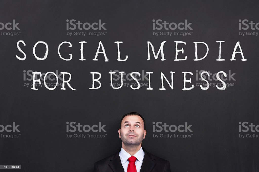 Social Media for Business royalty-free stock photo