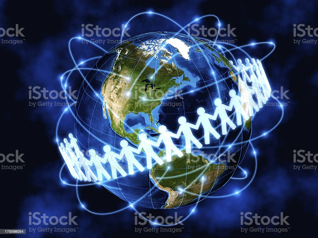Social media, global communications, America royalty-free stock photo
