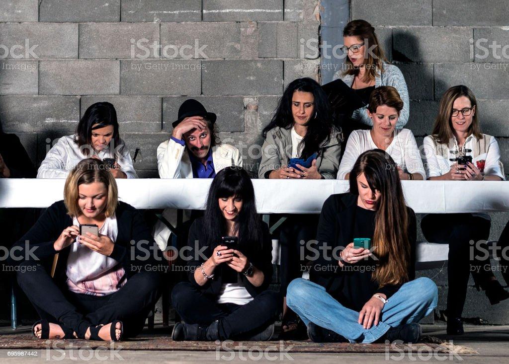 Social Media Horror stock photo