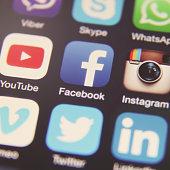 Social media icon logo application