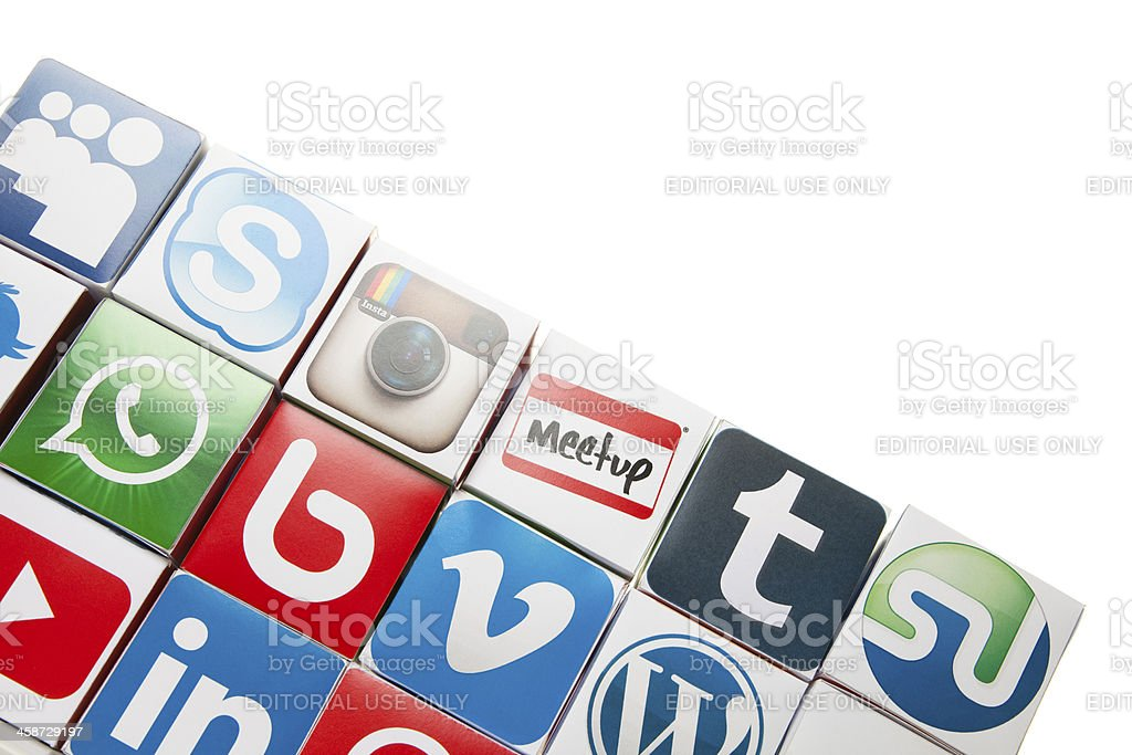 Social media icons royalty-free stock photo