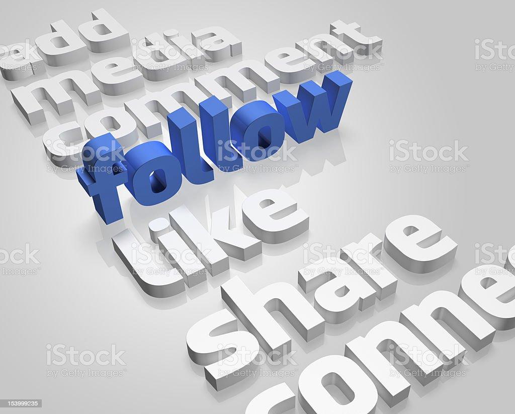 Social Media in 3D stock photo