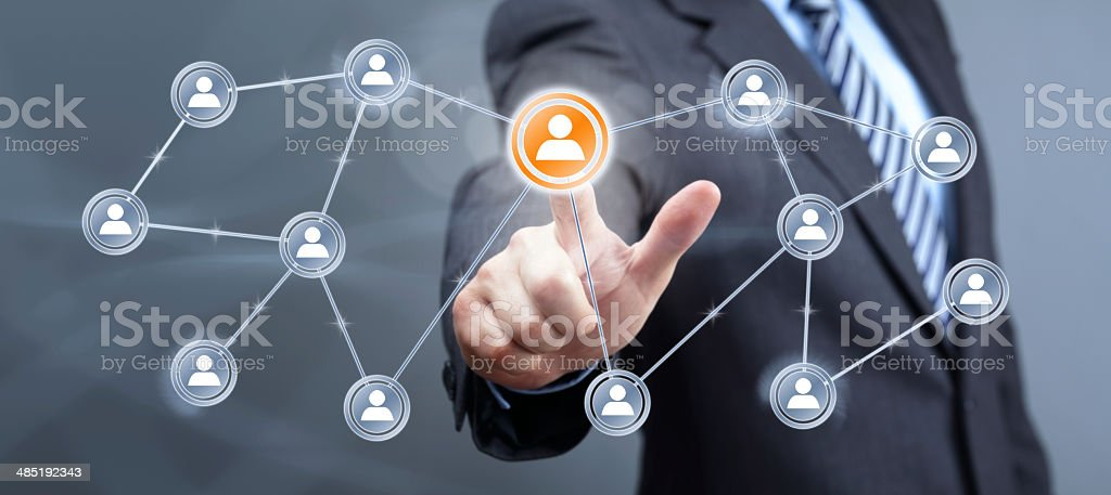 Social media interface stock photo