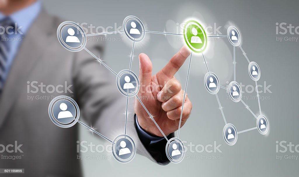 Social media interface stock photo