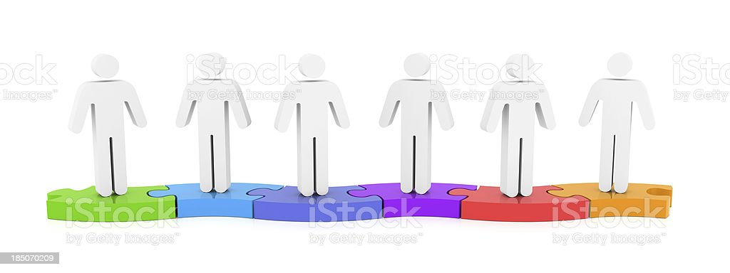 Social Media Jigsaw People stock photo
