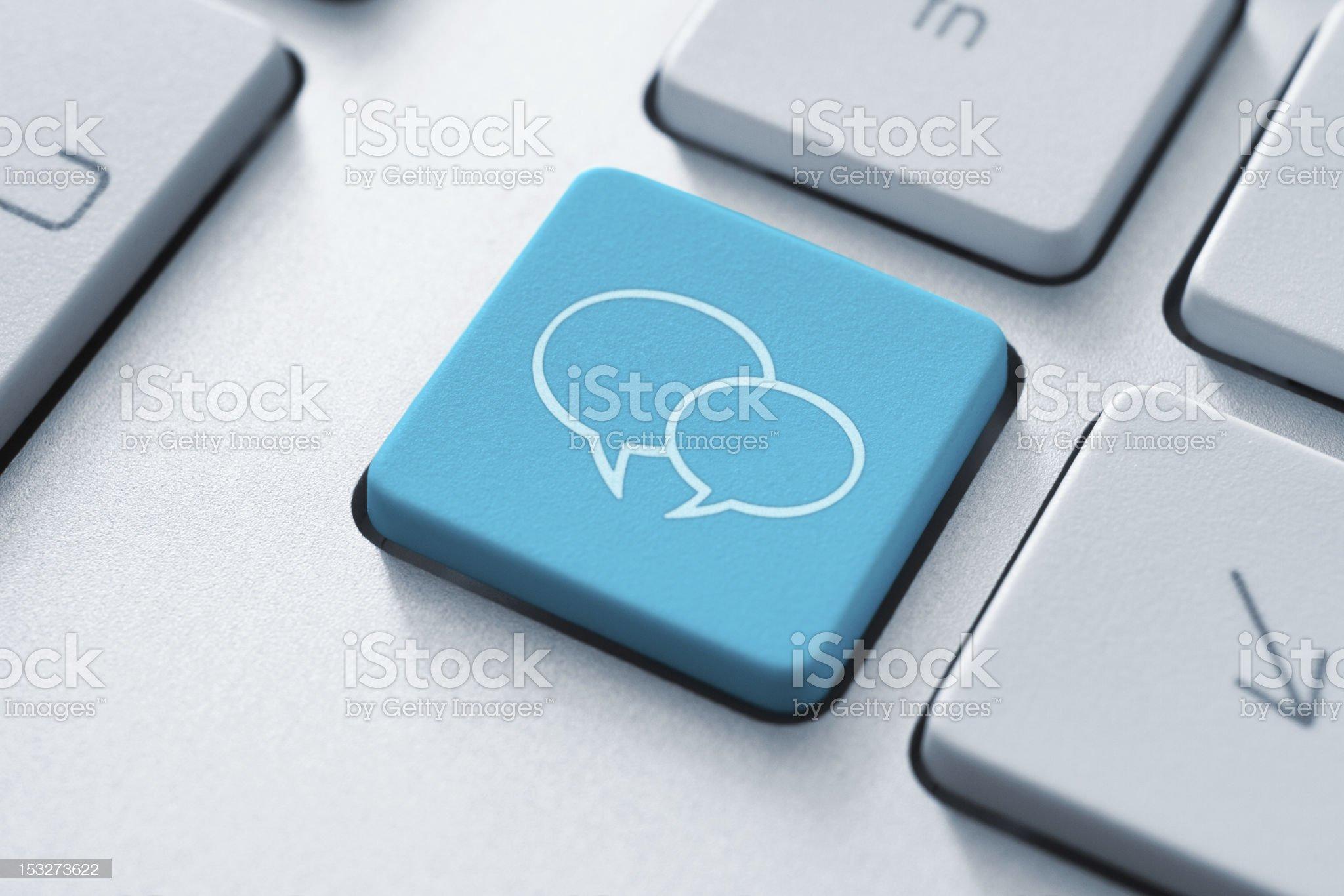 Social Media Key royalty-free stock photo
