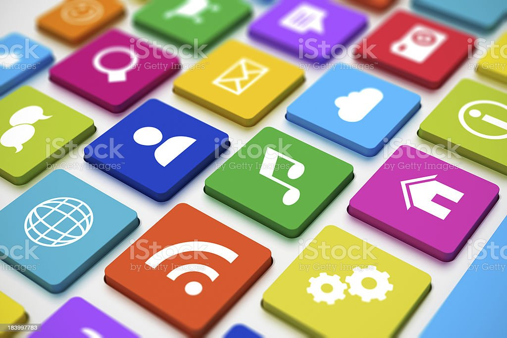 Social media keyboard royalty-free stock photo