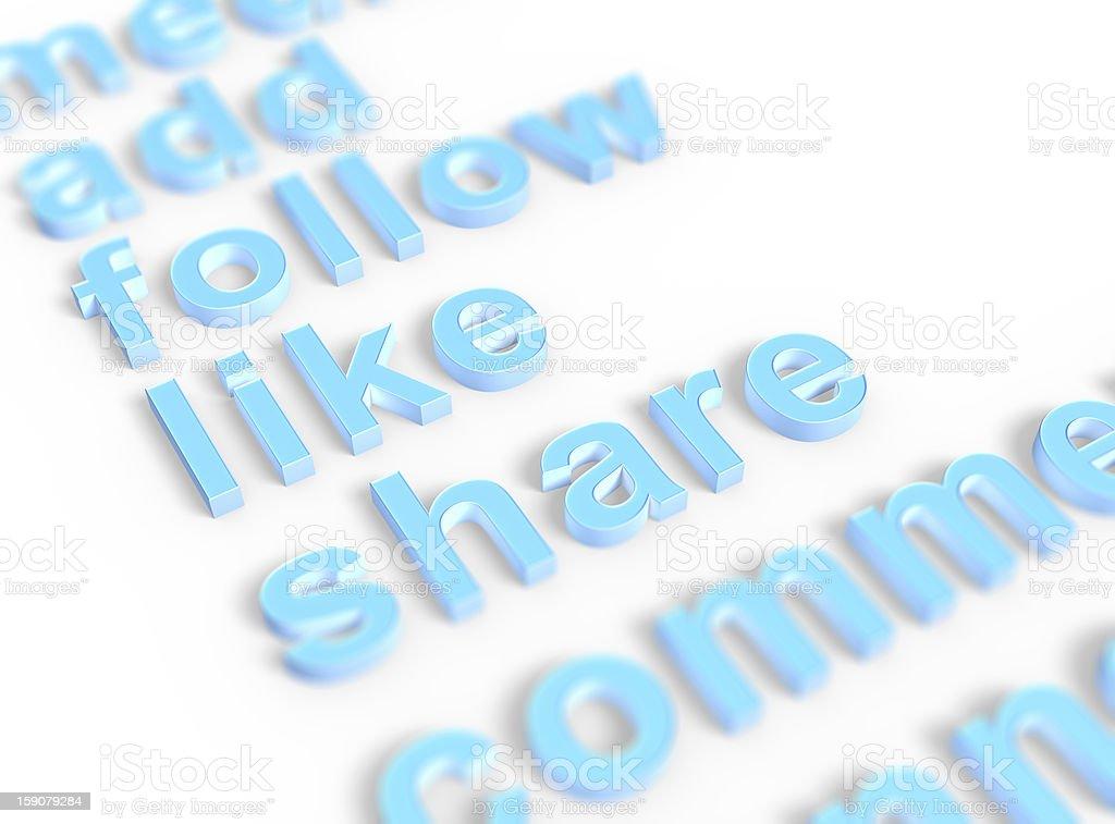 Social media keywords royalty-free stock photo