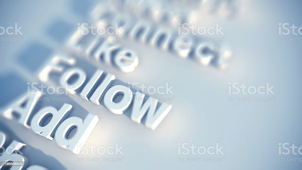 Social media keywords stock photo