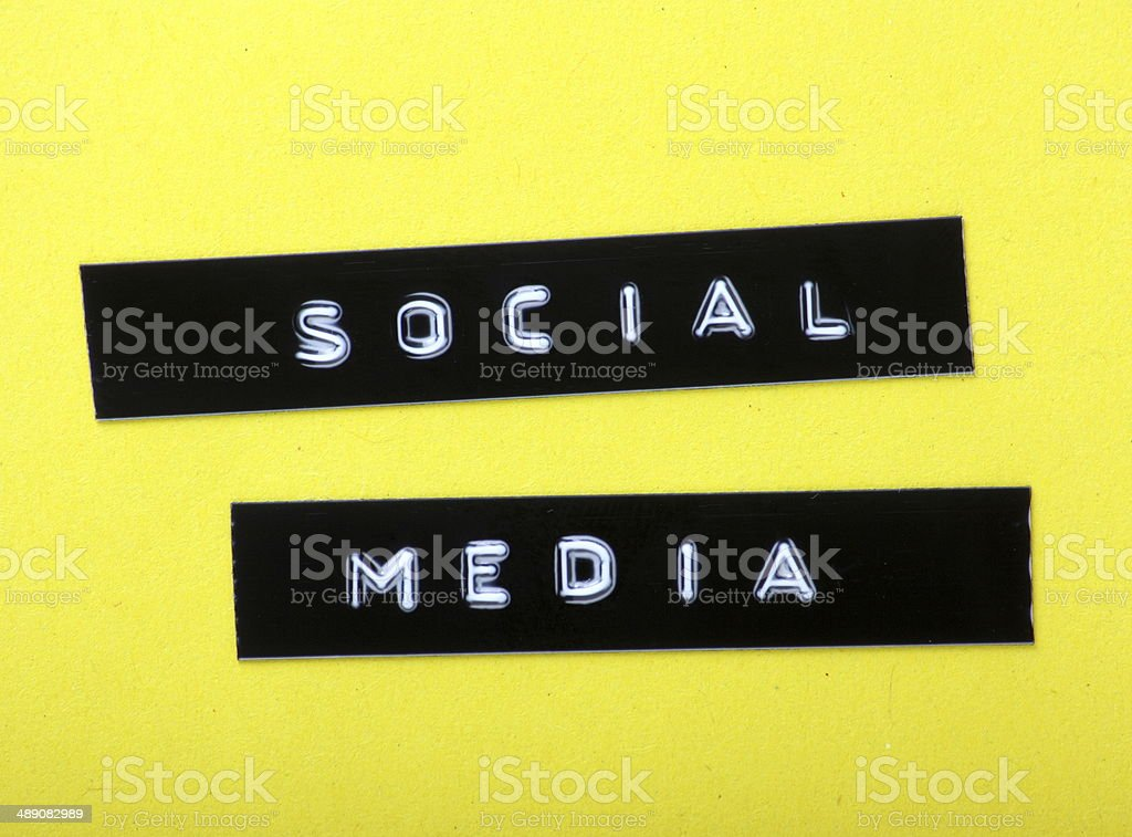 Social Media Labels royalty-free stock photo