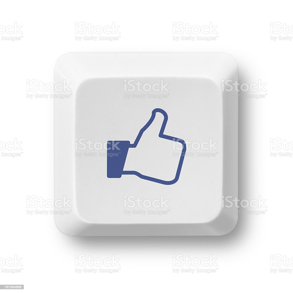 Social Media Like Key stock photo