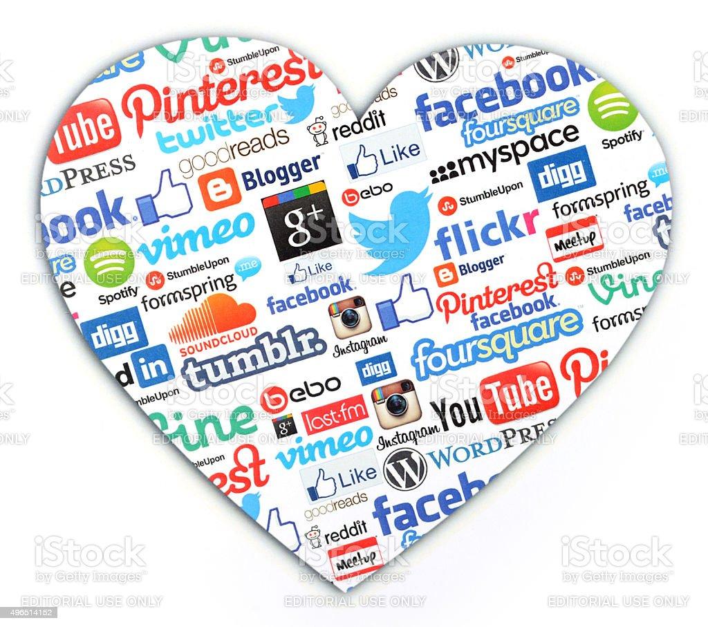 Social media like stock photo