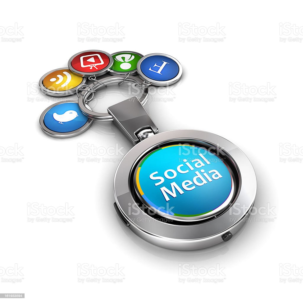 social media Links and integration stock photo