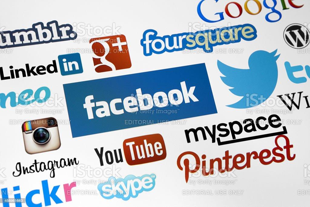 Social Media Logotype stock photo