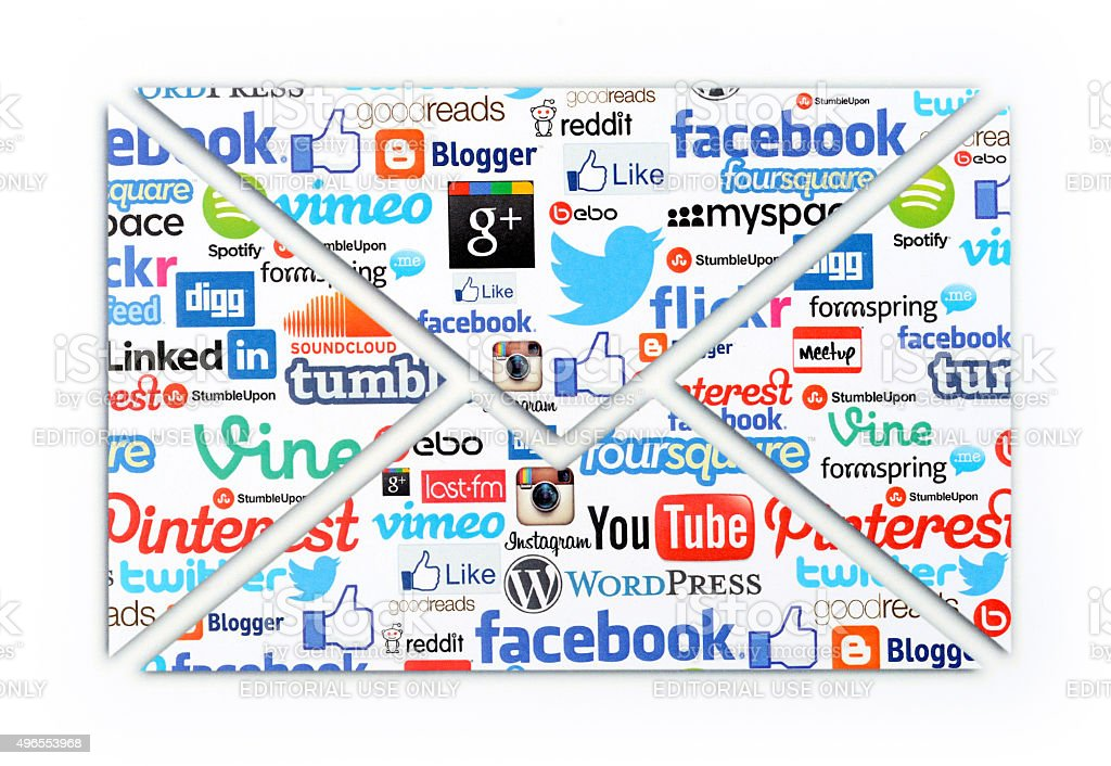Social Media messages stock photo