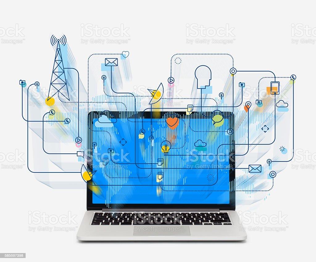 Social media networking stock photo