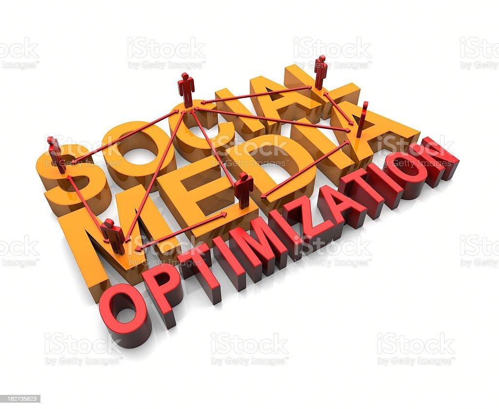Social Media Optimization SMO royalty-free stock photo